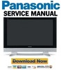 Thumbnail Panasonic Viera TH-37PA50 + 42PA50 Series FULL Service Manual & Repair Guide