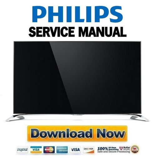 Product picture Philips 65PUS9109 65PUS9809 55PUS9109 55PUS8909C Service Manual and Repair Guide