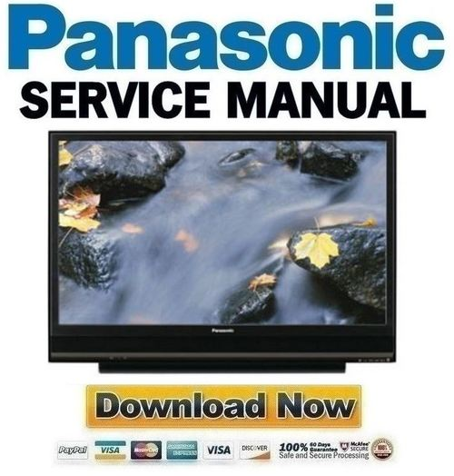 Product picture Panasonic PT-50LCX7K + 56LCX70-K Service Manual & Repair Guide