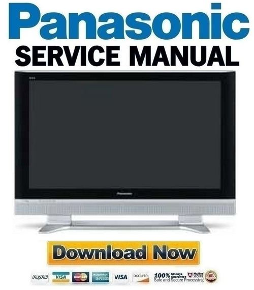 Product picture Panasonic Viera TH-37PA50 + 42PA50 Series FULL Service Manual & Repair Guide